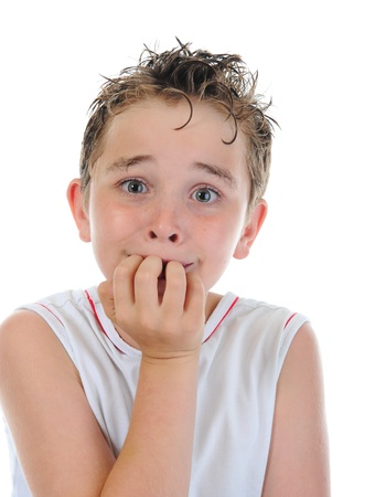 Portrait of a frightened boy Stock Photo - 9952018