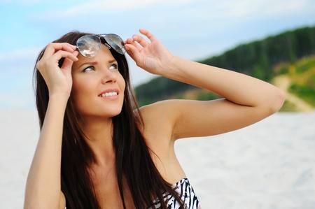 beautiful woman on the beach Stock Photo - 9952034
