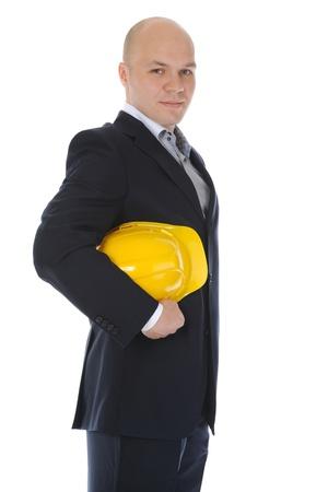 Businessman with construction helmet Stock Photo - 9952010