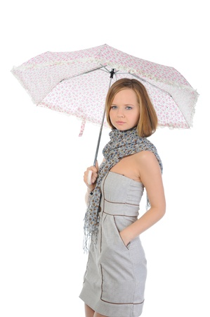 Image of a woman with umbrella photo