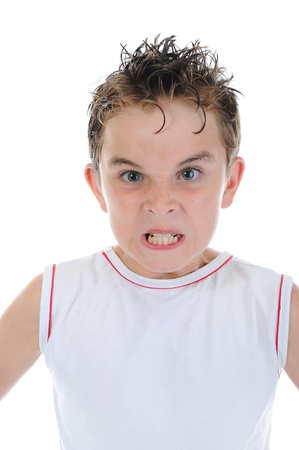 anger kid: Angry little boy