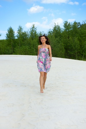 beautiful woman on the beach Stock Photo - 9952058