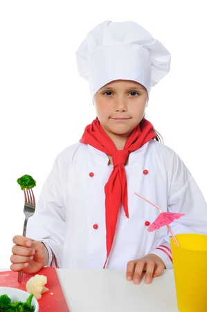 Little Chef in uniform. photo