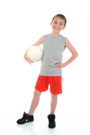 Portrait of a young football player photo