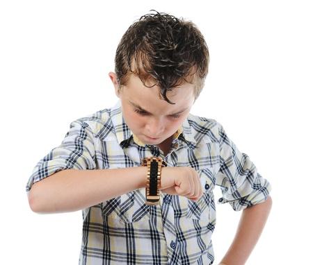 Portrait of emotionally boy. Stock Photo - 9952379