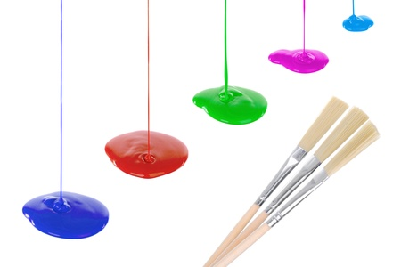 Image flowing vibrant paints Stock Photo - 9952070