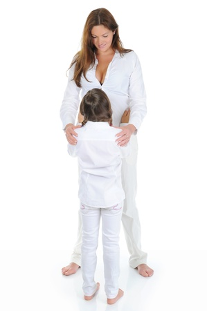 pregnant woman with her daughter Stock Photo - 9952063