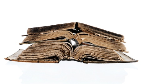 An opened Bible. photo