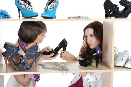 woman choosing shoes at a store Stock Photo - 9952264