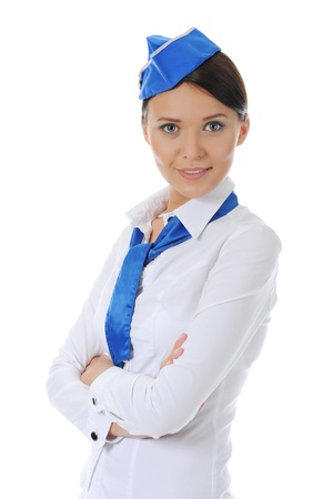 Attractive stewardess photo