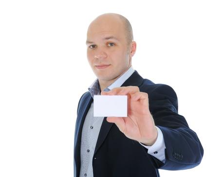 man handing a blank Stock Photo - 9952075