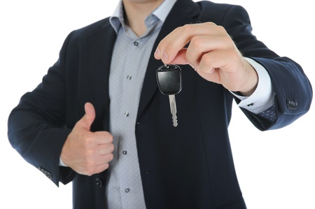 Businessman gives the keys to the car Stock Photo - 9952089