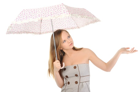 Image of a woman with umbrella Stock Photo - 9952397