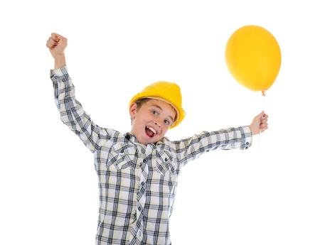 Little smiling builder in helmet Stock Photo - 9952101