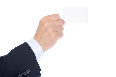 man handing a blank Stock Photo - 9952094