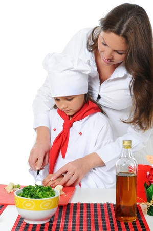 Little Chef in uniform. photo