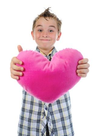boy gives a heart Stock Photo - 9952453
