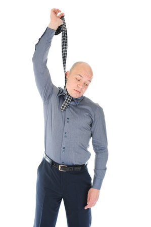 businessman hanged himself in a tie Stock Photo - 9952127