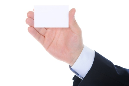 man handing a blank Stock Photo - 9952112
