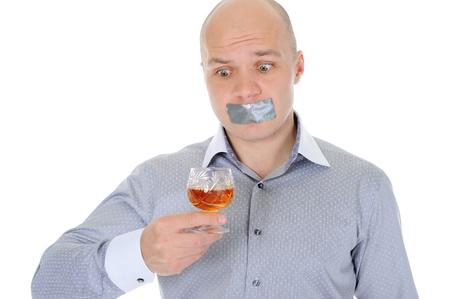young businessman alcoholic photo
