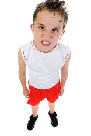 angry kid: Angry little boy