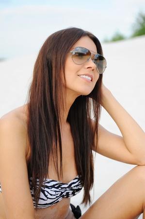 beautiful woman on the beach Stock Photo - 9952411