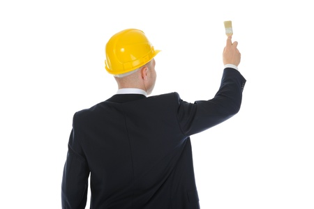businessman with a brush in his hand Stock Photo - 9952136