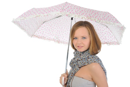 Image of a woman with umbrella Stock Photo - 9952158