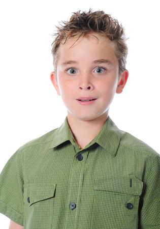 Portrait of emotionally boy. photo