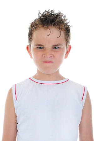 Angry little boy photo