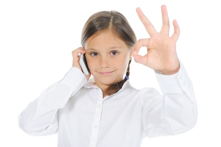 little girl shows sign okay Stock Photo - 9952145