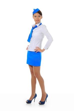 air crew: Attractive stewardess