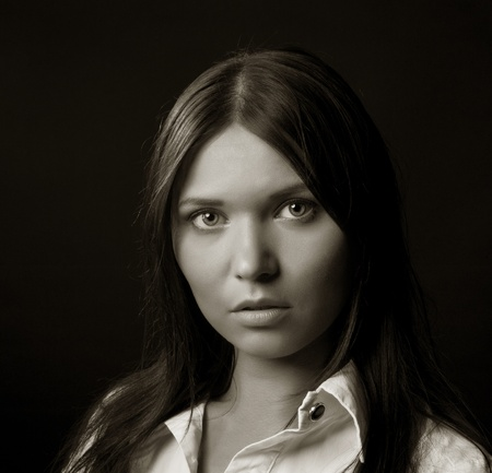 Portrait of a beautiful young woman photo