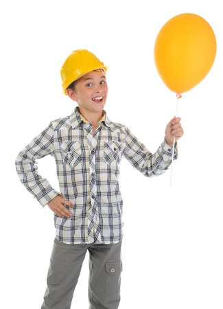 Little smiling builder in helmet Stock Photo - 9952330