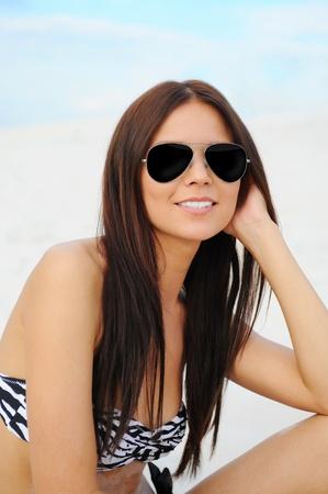 beautiful woman on the beach Stock Photo - 9952180