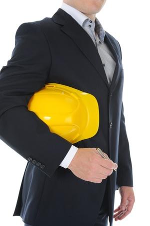 Businessman with construction helmet Stock Photo - 9952174