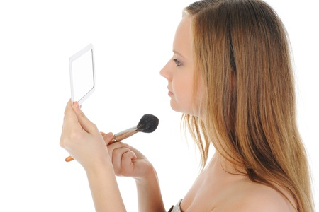 woman with a powder and brush photo