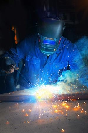 welding metal: welder