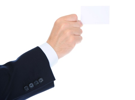man handing a blank Stock Photo - 10477417
