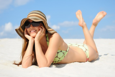 beautiful woman on the beach Stock Photo - 10477423