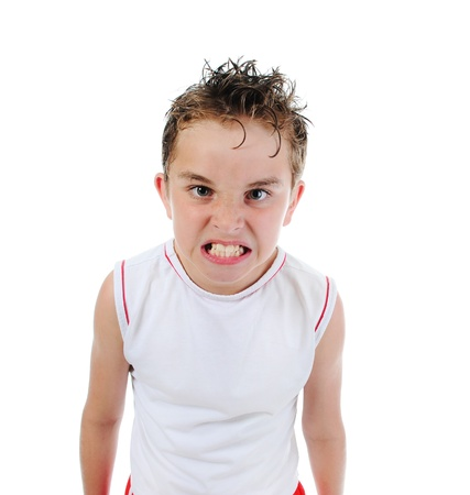 Angry little boy Stock Photo - 10498369