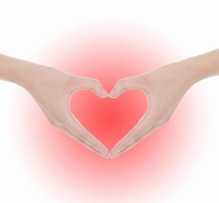 Hand make a heart Stock Photo - 10498391