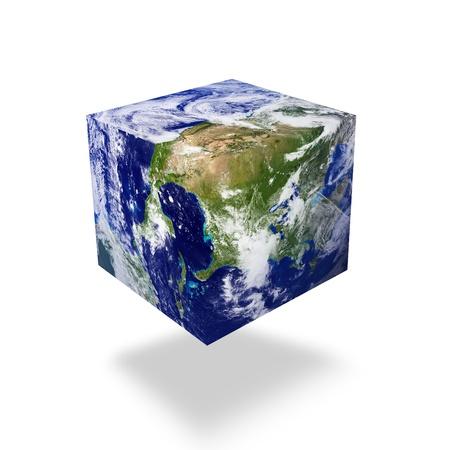 blue planet: earth square globe Stock Photo