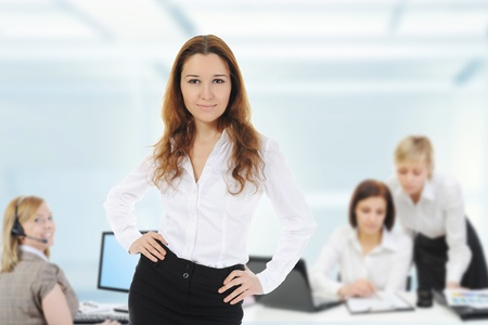 business team in an office Stock Photo - 10498425