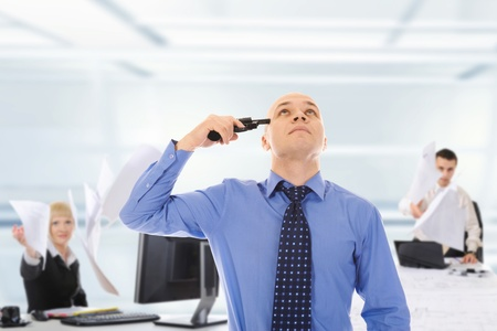 man trying to suicide Stock Photo - 10498424