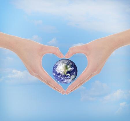 Hand make a heart photo