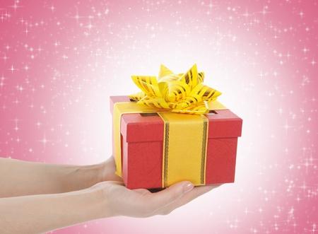 gift in the hands of women