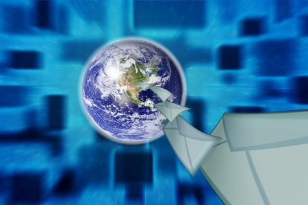planet earth and mail the envelope Stock Photo - 10517090