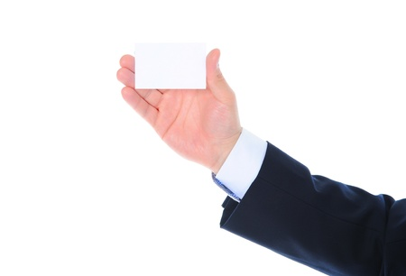 man handing a blank Stock Photo - 10517077