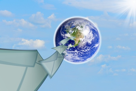 planet earth and mail the envelope Stock Photo - 10544798